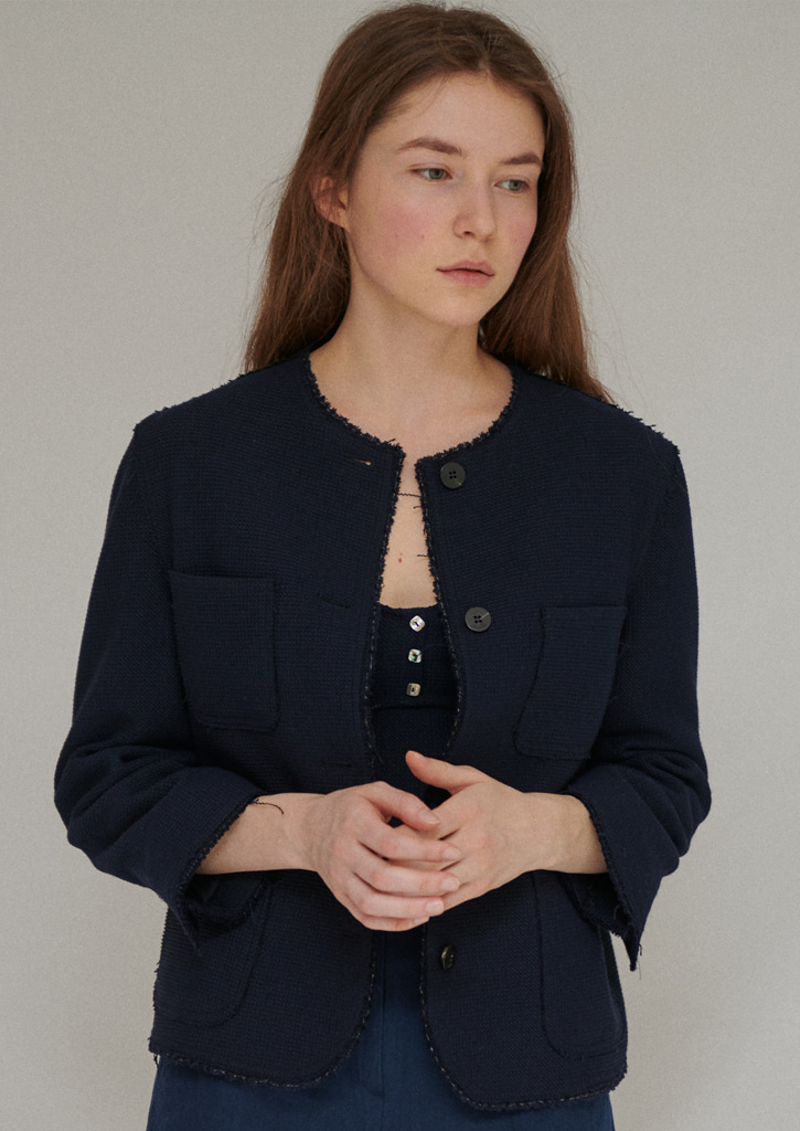 Via Round tweed jacket